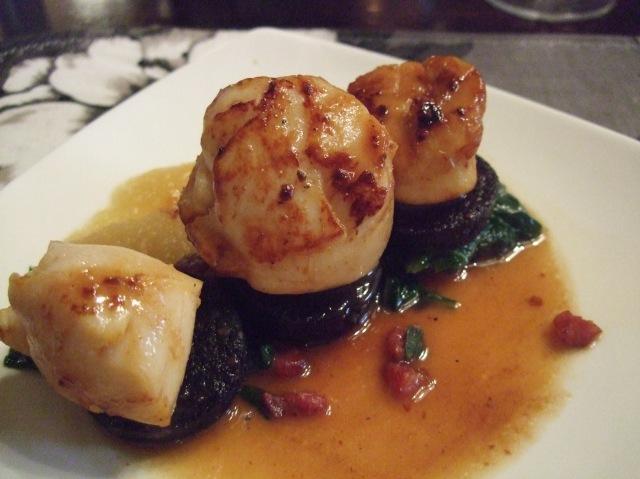A delicious scallop dish.