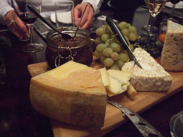 That's a substantial chunk of Morbier in front.