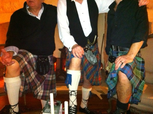 Three different tartans.