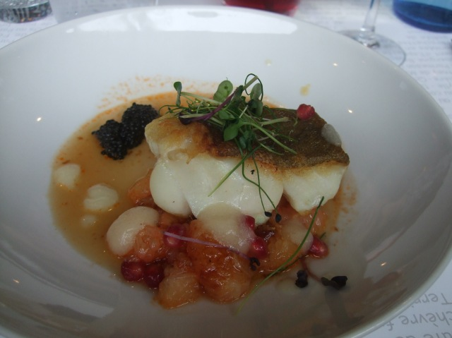 My delicious dish of roast cod.