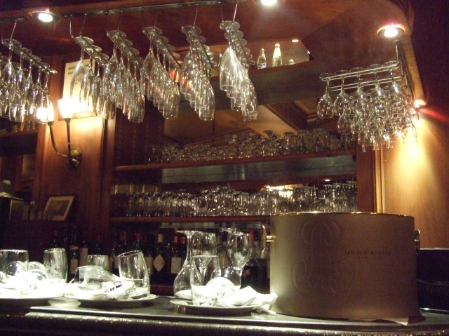 The bar in the brasserie.