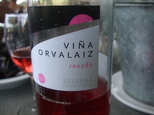 Our usual tipple at Le Tournepique -- a rosé.