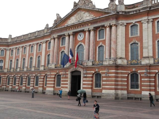 The Capitolium dominates Place du Capitole in Toulouse.
