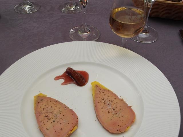 My entrée of foie gras.