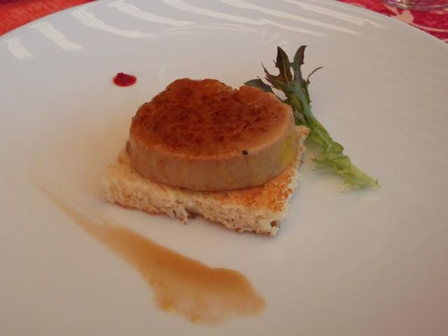 My serving of foie gras.