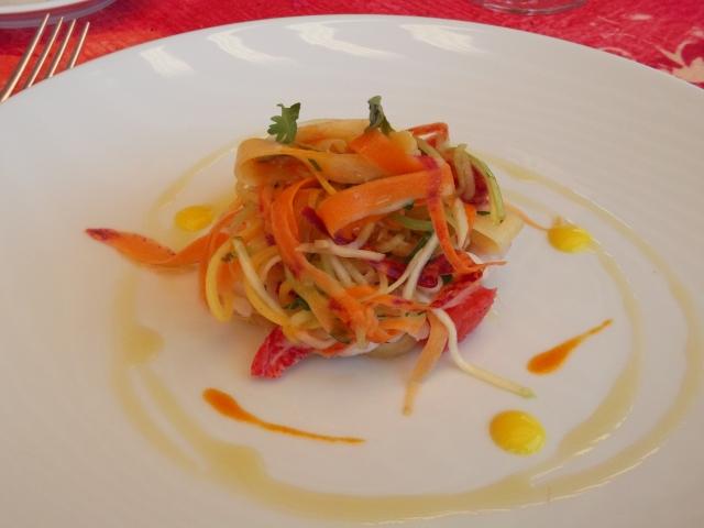 Fresh tastes of citrus were all through this lobster salad.