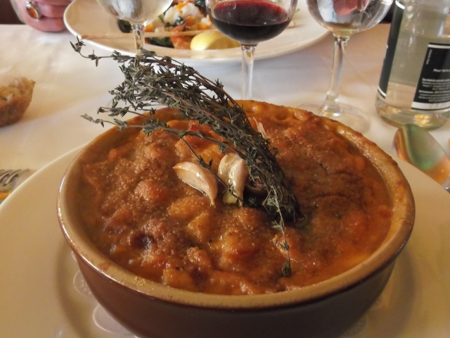 My huge and hearty serving of cassoulet.