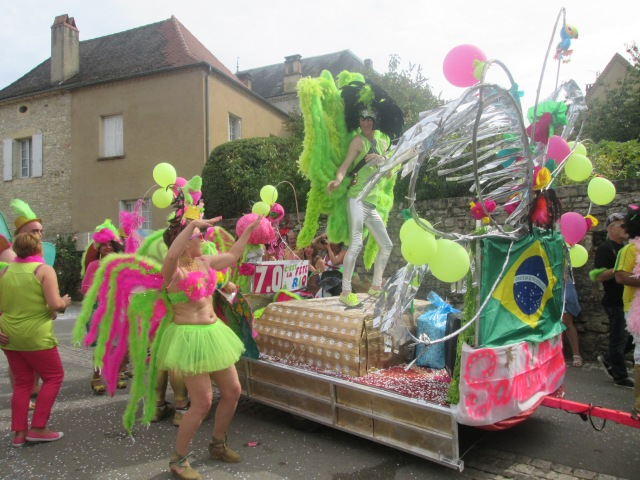 The Brazilian float in full swing.