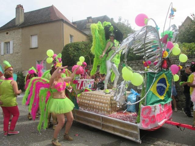 The Brazilian float in full swing.