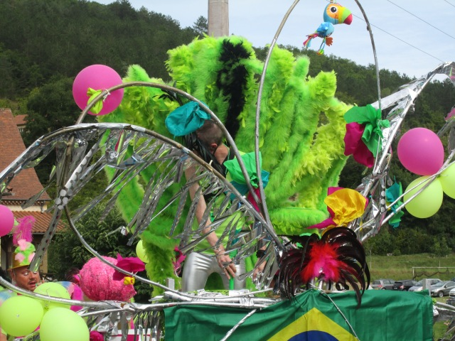 The centre of attention in the Brazilian float was this guy.