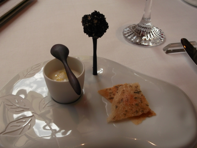 A beautifully presented amuse-bouche.