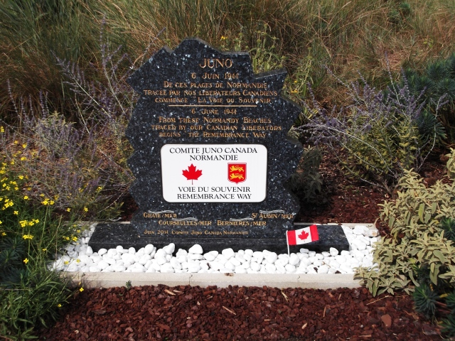 A plaque for the Remembrance Way.