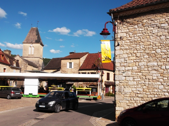 A ride in the main square of Daglan, France, as part of the summer festival, August 2014.
