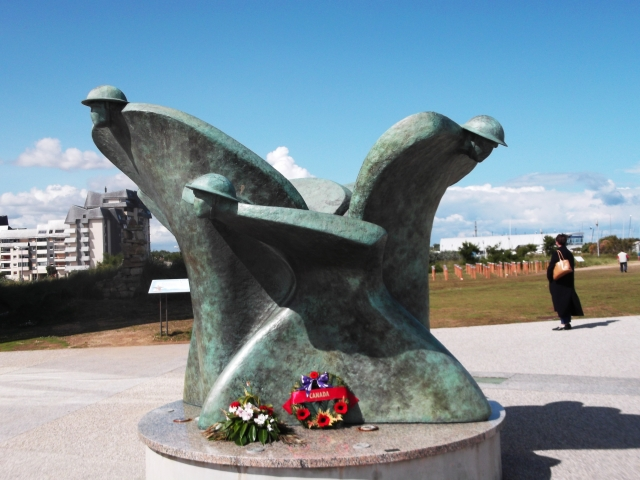 "The statue ""Remembrance and Renewal"" at the centre."