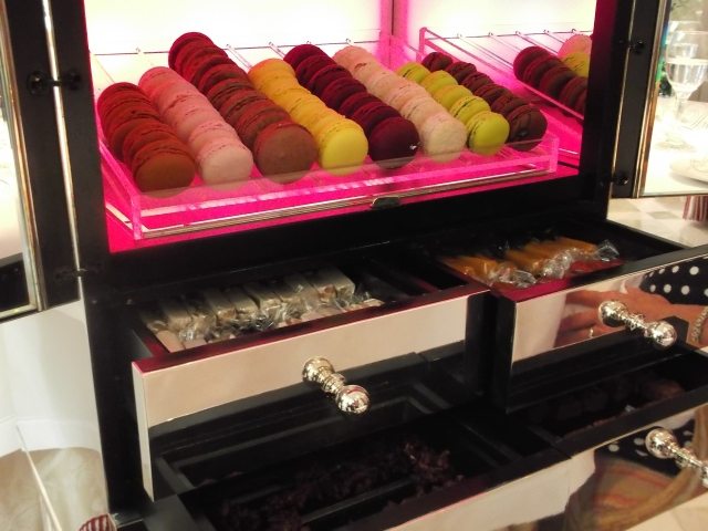 Eight flavours of macarons were on offer.