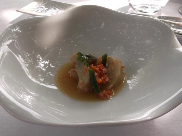 An unusual dish built around artichoke hearts.