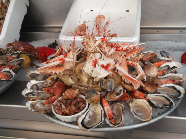 A seafood platter at Chez Albert.