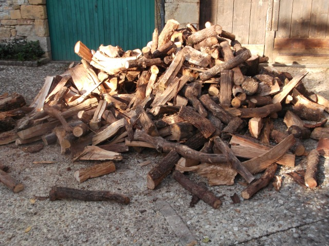Our latest stack of firewood.