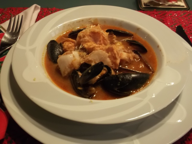 My (first) helping of our bouillabaisse.