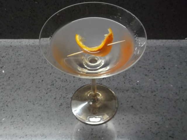 A beautiful, simple garnish to your evening martini.