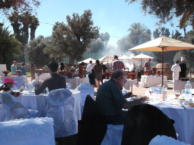 A beautiful Moroccan meal in the sunshine.