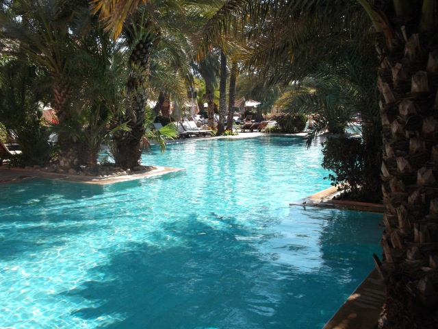 Part of the resort's main swimming pool.