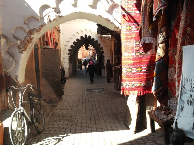 One of the quieter streets in the souk.