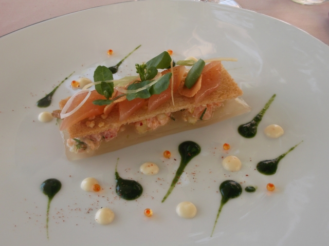 A delicate but very flavourful entrée based on local trout.
