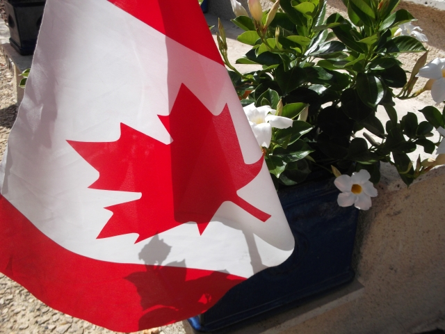Maple Leaf Forever: Our Canada Day statement in Daglan.
