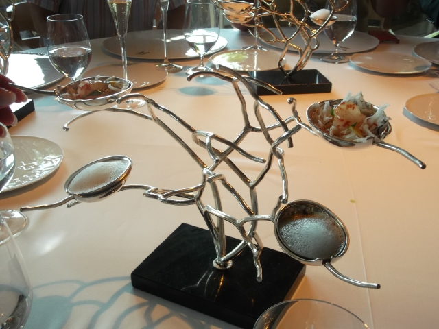 A silver tree containing yet more amuse-bouches.