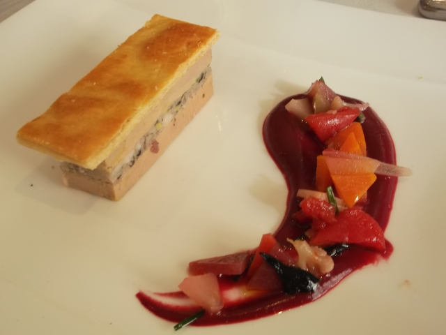 I especially loved the meaty filling between the layers of foie gras.