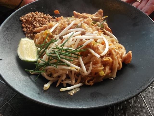 Jan's generous serving of Pad Thai.