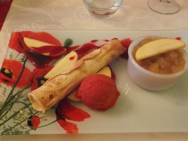 My plate of dessert.