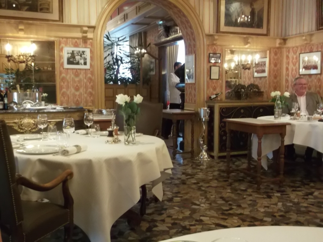 One of the restaurant's main dining rooms.
