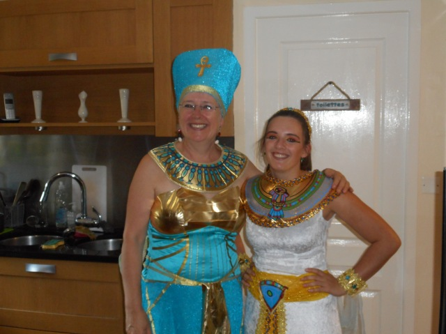 Nefertiti herself, rightly pleased with the whole affair.