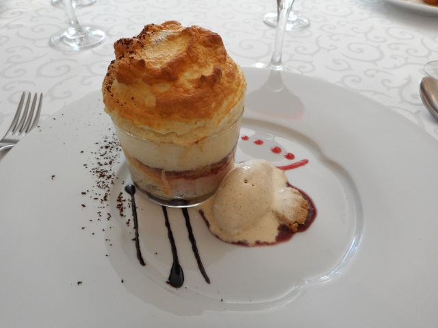 My dessert was a wonderful soufflé.