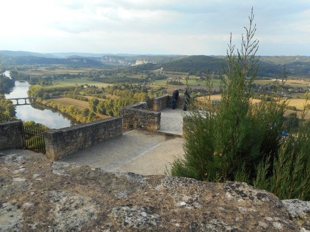 Looking down into the Dordogne River Valley.