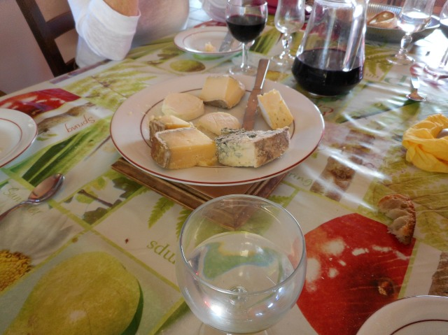 A nice selection of cheeses.